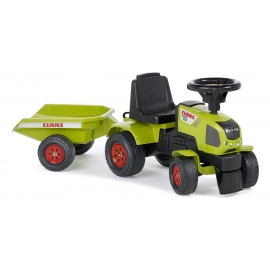 Claas Axos 310 Push-Along Tractor with Trailer