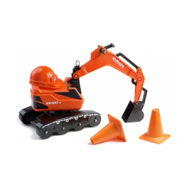 Kubota KX080.4 Ride-on Excavator with Hard Hat & 2 Traffic Cones