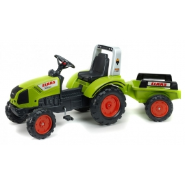 Claas Arion 430 Pedal Tractor with Trailer