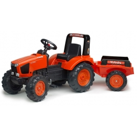 Kubota M135GX Pedal Tractor with Trailer