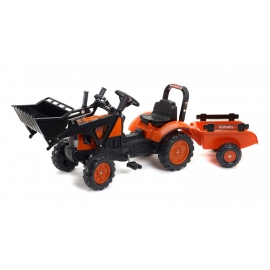 Kubota M7171 Pedal Tractor with Front Loader & Trailer