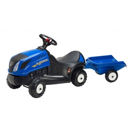 New Holland T5 Push-Along Tractor with Trailer