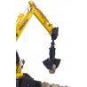 Komatsu PW148-10 Wheeled Excavator with Clam Shell