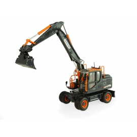 "Doosan DX160W Wheeled Excavator ""Black Edition"" with Tilting Bucket"