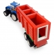 New Holland Tractor with Hopper Trailer Building Block Kit