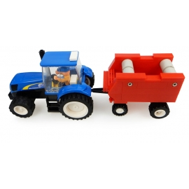 New Holland Tractor with Hay Baler Building Block Kit