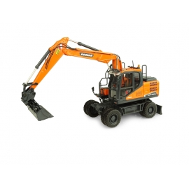 Doosan DX160W Wheeled Excavator with Tilting & Clamshell Buckets