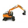 Doosan DX160W Wheeled Excavator with Tilting & Clamshell Buckets