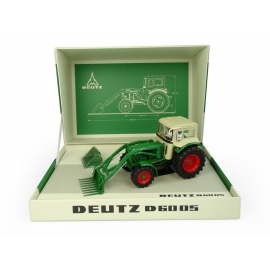 Deutz D6005 4WD with Cab & Front Loader (1967) Box Set with Two Loader Attachments