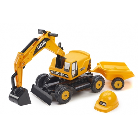 JCB Ride-On Excavator with Trailer & Hard Hat