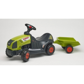 Claas Axos 340 Push-Along Tractor with Trailer