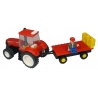 CASE IH Tractor with Hay Trailer Building Block Kit