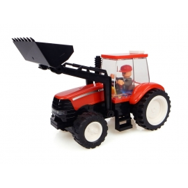 CASE IH Tractor with Front Loader Building Block Kit