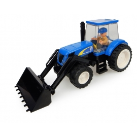 New Holland Tractor with Front Loader Building Block Kit
