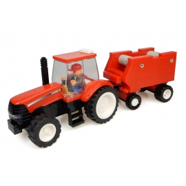 CASE IH Tractor with Hay Baler Building Block Kit