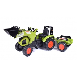 Claas Axos 330 Pedal Tractor with Front Loader & Trailer