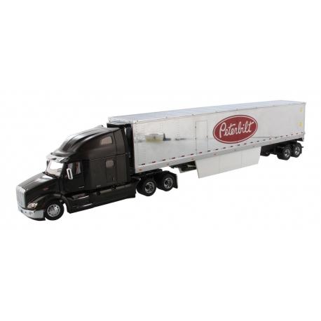 Peterbilt® 579 Ultraloft Tractor (Black) with 53' Refrigerated Van