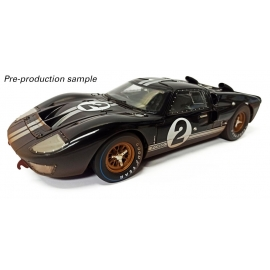 Ford GT40 Mk II 1966 Le Mans 24hrs - 1st Place 2 Bruce McLaren & Chris Amon (Black) - Post-race Dirty Version
